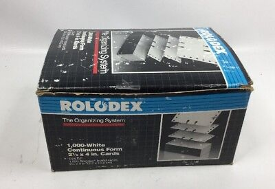 Genuine Vintage Rolodex 1000 White Continuous Form 2 1/4 x 4 inch Cards C24-CF