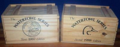 Ducks Unlimited 1st Ed Wood Duck - 2nd Ed Mallard Steins with Wooden Crates!