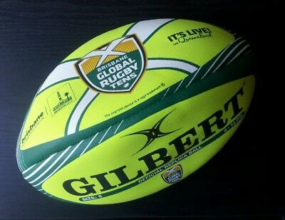 Gilbert Official Brisbane Global Rugby Union Tens Full Size 5 Replica Ball *NEW*