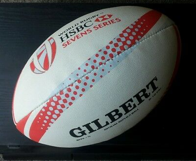 Gilbert Official HSBC World Rugby Union Sevens Series Size 5 Replica Ball *NEW*
