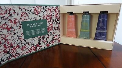 Crabtree & Evelyn Floral Winter Hand Cream Trio - 3x25g