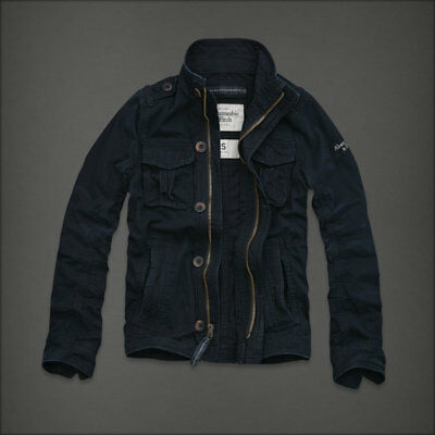 NWT Abercrombie and & Fitch Navy Blue Men's Cascade Lakes Jacket Coat M Medium