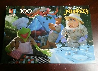 Jim Henson's The Muppets 100 Piece Jigsaw Puzzle Kermit Frog Miss Piggy Picnic