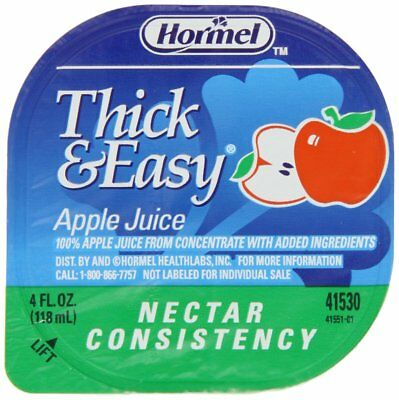 Hormel Drink Thick & Easy Apple Juice Nectar Consistency, 4-Ounce Portion Cups