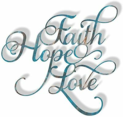 DXF CNC dxf for Plasma Faith Hope Love CS#502 Man Cave Wall Art Home Decor Faith