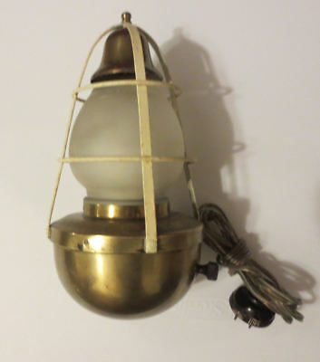 Vintage Nautical Marine Ship Brass Lamp Light with Bell