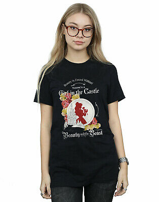Disney Donna Beauty and the Beast Girl in the Castle Boyfriend T-Shirt Fit