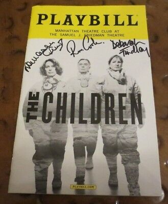 The Children Broadway Play Playbill current cast signed autographed