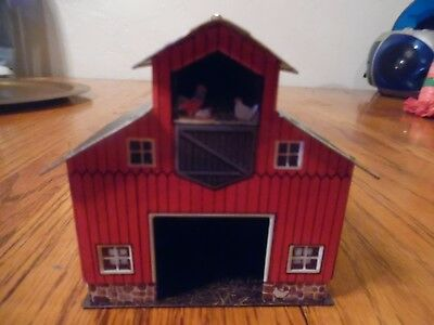 Hallmark Christmas 1999  Ornament-Colorful Metal Red Barn