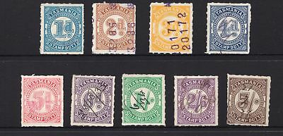 Tasmania rouletted stamp duty set to 5/- see scans x 2