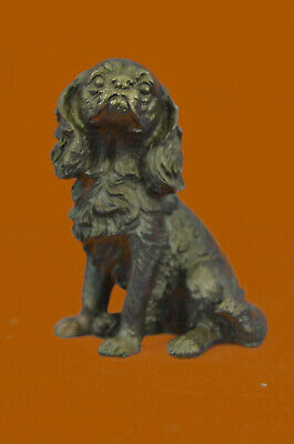 Hand Made Statue Vienna Miniature Cocker Spaniel Dog Animal Pet Trainer Bronze