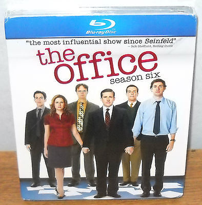 The Office: Season Six  6 Sixth (Blu-ray Disc, 2010, 4-Disc Set) BRAND NEW!!
