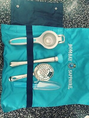 Bombay Sapphire Cocktail Bar Tools Set in Carry Travel Case