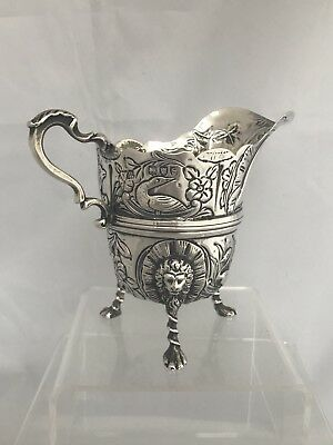 Victorian Solid Silver Cream Jug 1893 London Wakely & Wheeler