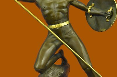 Hand Made USA Ornament ancient Roman soldier statue bronze sculpture warrior