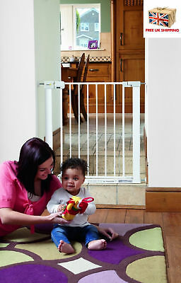 No Drilling Stair Metal Gate Safety Baby Toddler Simply-Close Door Pressure 14cm