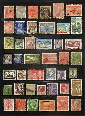 Good lot of used Australian Pre-Decimal stamps