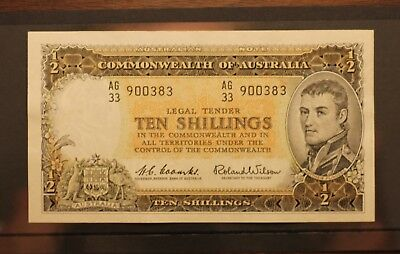 Australian 10 Shilling Banknote 1961 Coombs and Wilson