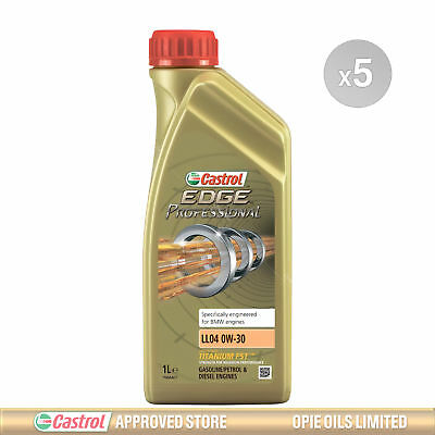 CASTROL EDGE PROFESSIONAL LL04 0W20 Fully Synthetic 5 Litre