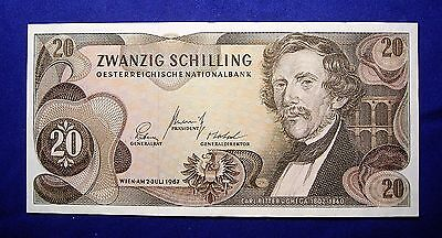 Austria 1967 20 Shilling Bank Note... UNC