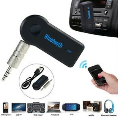 AU Wireless Bluetooth 3.5mm AUX Audio Stereo Music Home Car Receiver Adapter Mic