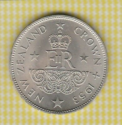 Crown Lot 2. 1953 New Zealand. Beautiful Coin. Free Post in Bubble Env Aust Only