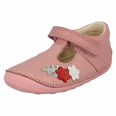 Clarks Girls First T-Bar Shoes Tiny Blossom