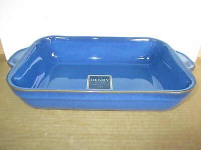 Denby Imperial Blue Oblong Serving Dish New First Quality Excellent Condition