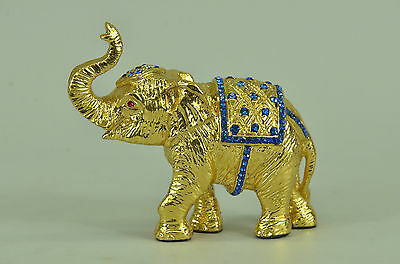Hand Made bronze sculpture Zirconia Cubic With Elephant Vienna Miniature
