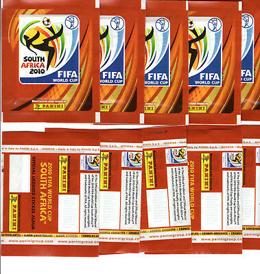PANINI FOOT 10 POCHETTES SOUTH AFRICA 2010 sans code barre