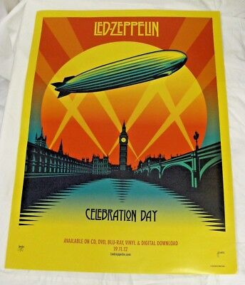 Led Zeppelin Celebration Day Original Record Company Advertising Poster