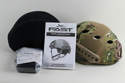 Ops-Core Fast Carbon High Cut Helmet Multicam w/ Skelton Shroud Large/XL NIB