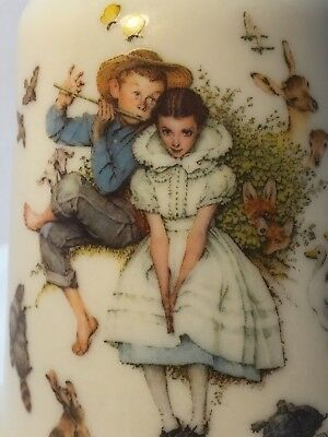 Vintage Gorham Bell Love's Harmony Norman Rockwell Boy Playing Fiddle For Girl!