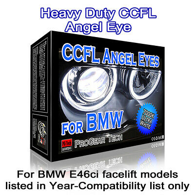 4300K OEM Yellow Heavy Duty BMW CCFL Angel Eyes Halo Rings E46 Ci 04-06 facelift