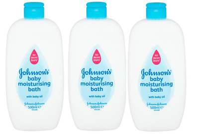 Johnson's Baby Moisturising Bath with Baby Oil 3X 500ml PRICELESS SPECIAL DEAL