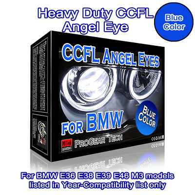 Heavy Duty BMW CCFL Angel Eyes Halo Rings 30000K Blue E46 E39 E38 E36 Projector