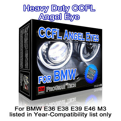 Heacy Duty 4300K OEM Yellow BMW CCFL Angel Eyes Halo Rings DRL E46 E39 E38 E36