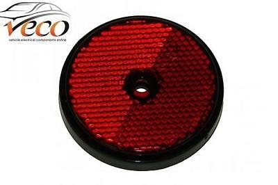 X 2 Radex Round Red Reflectors With Mounting Hole Trailers Van Caravans Mp854B
