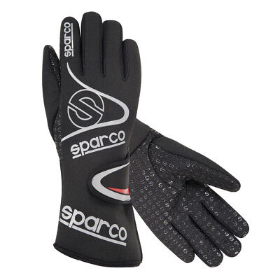 Sparco WINTER Gloves Black EU size 6 FREE DELIVERY SPORTS Rally Race Kart SALE