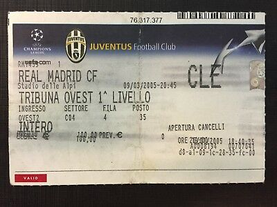 Biglietto Stadio Ticket Juventus-Real Madrid Champions League 2004/'05