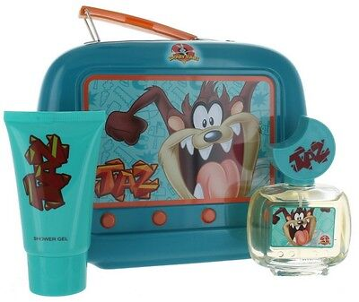 Taz by Looney Tunes for Boys & Girls Lunch Box: EDT 1.7oz + SG 2.55 New in Box