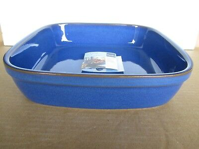 Denby Imperial Blue Square Serving Dish New First Quality Excellent Condition