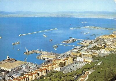 Vintage 1965 Postcard Gibraltar, View of Town and Harbour D6