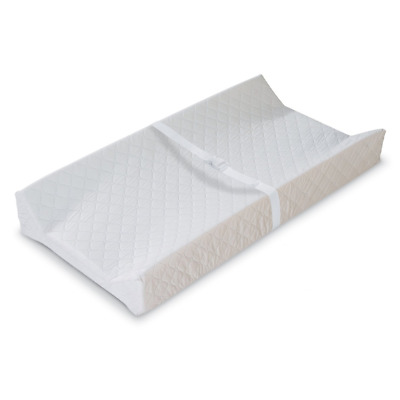 """Baby Changing Table Pad Contoured Diaper Change Cushion Nursery White 16x32"""" NEW"""