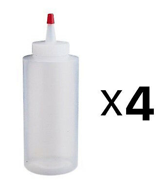 Wilton Regular Melting Decorating Squeeze Bottle Candy Supplies Plastic (4-Pack)
