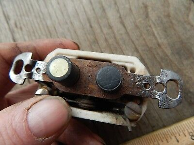 Antique ARROW H&H  Mother of Pearl Push Button Light Switch-Tested #8381-14
