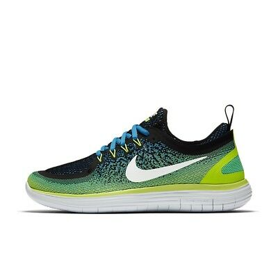 NIKE FREE RN DISTANCE 2 Running Trainers Gym Casual Chlorine Blue  Various Sizes