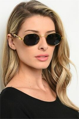 New Mens Womens Fashion Oval Sunglasses Vintage Retro Buffs Designer Wood Shades