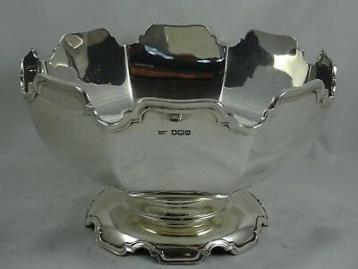 STUNNING ART DECO solid silver ROSE BOWL, 1922, 648gm - Mappin & Webb