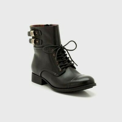 25d2ea31ab52 New Clarks Womens Leather Ankle boots Black MIMIC Tartan Army Super Comfort